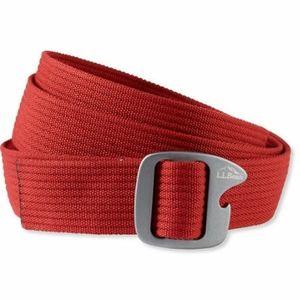 L.L. Bean men's backcountry trek belt webbed red